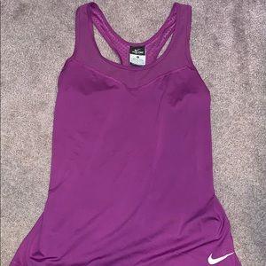 Purple Nike pro dri fit tank